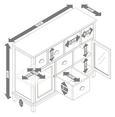 Sideboard Nicolo - Eichefarben/Weiß, MODERN, Glas/Holz (105/80/34cm) - Modern Living