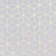 Perdea Prefabricată Aida - alb/auriu, Romantik / Landhaus, textil (135/245cm) - Modern Living