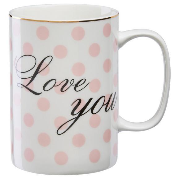 Lonček Za Kavo Betty - roza/bela, Romantika, keramika (7,9/10,8cm) - Mömax modern living