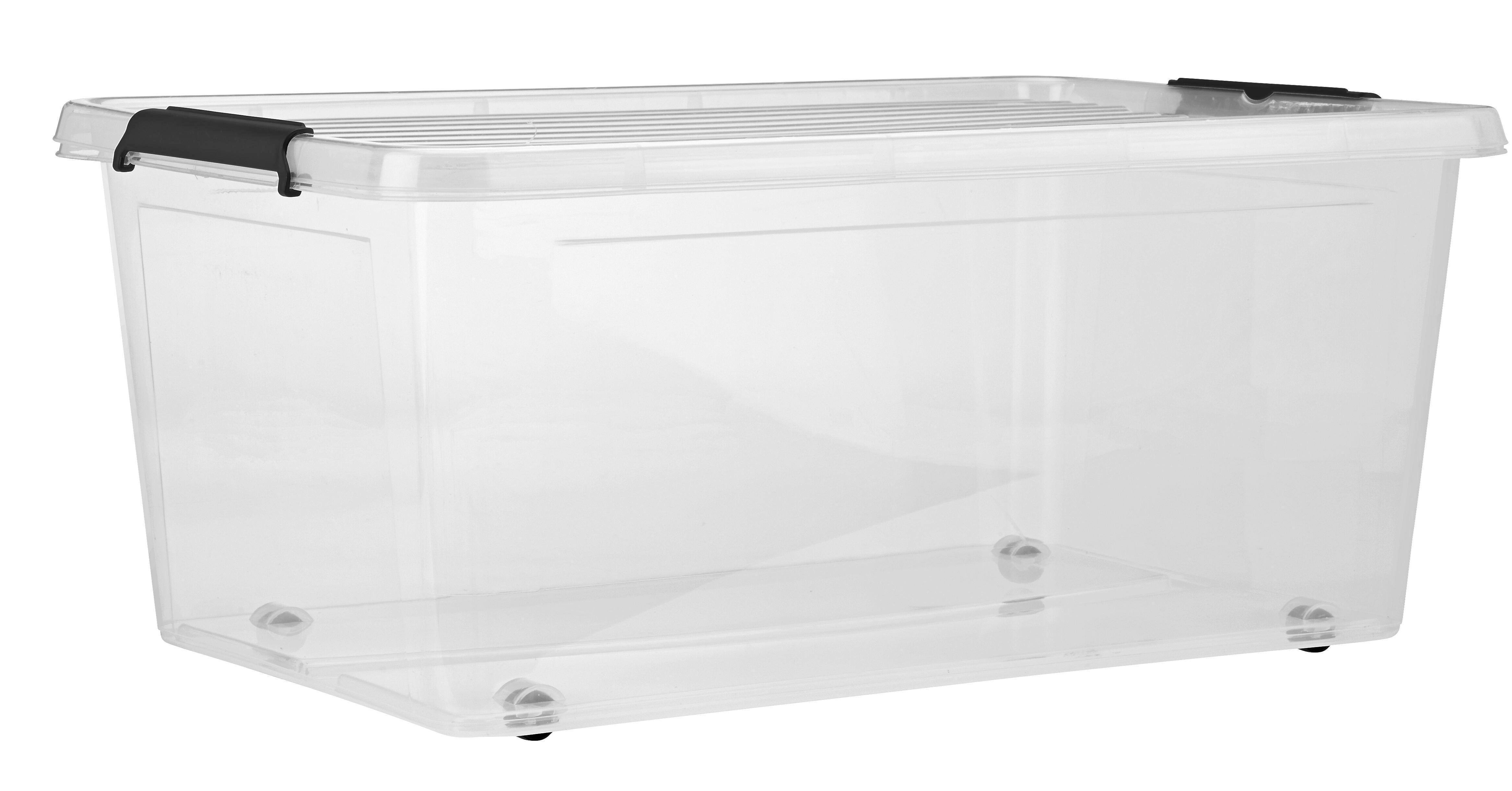 Doboz Tetővel Bruno - tiszta, műanyag (57/39/25cm) - MÖMAX modern living