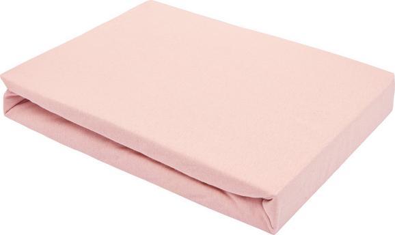 Spannleintuch Basic in Rosa, ca. 180x200cm - Rosa, Textil (180/200cm) - Mömax modern living