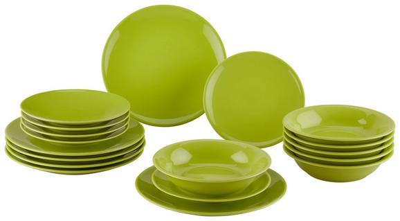 Kombiservice Inka aus Steinzeug, 18-teilig - Grün, Keramik - Mömax modern living