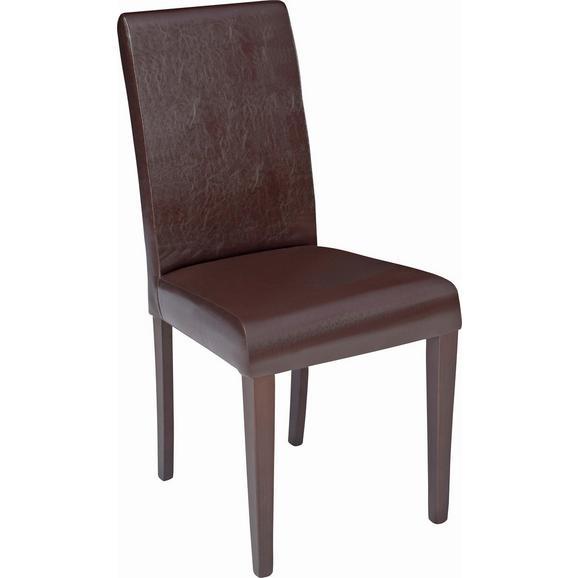 Scaun John - culoare lemn wenge/maro, Konventionell, compozit lemnos/textil (44,5/92,3/59cm)