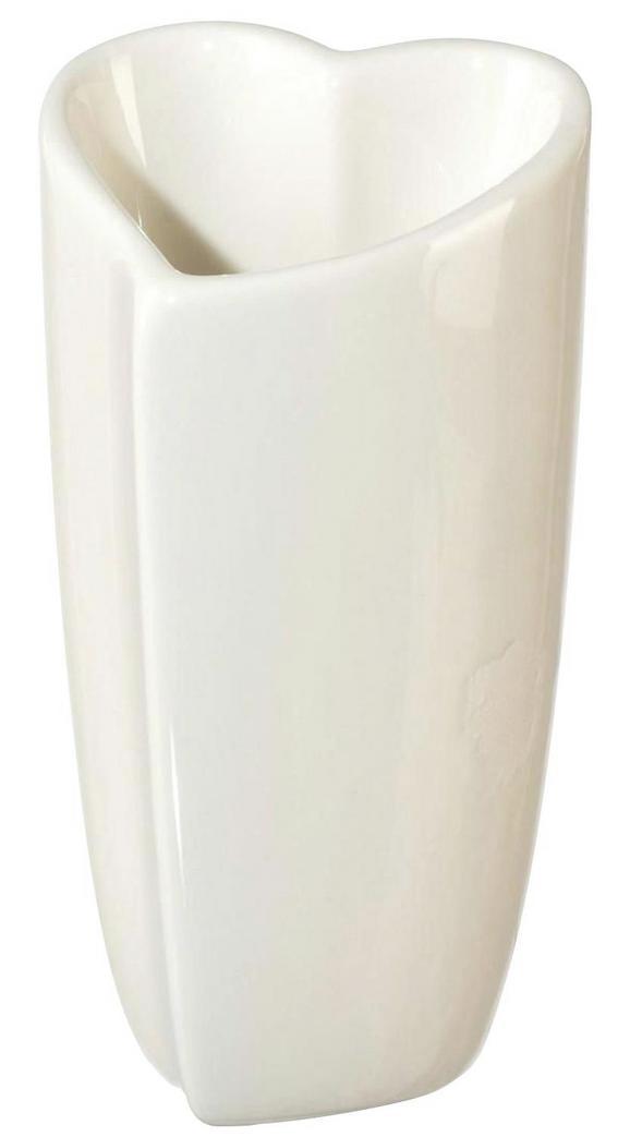 Vase Vera in Weiß - Weiß, ROMANTIK / LANDHAUS, Keramik (10,5/10/20cm)