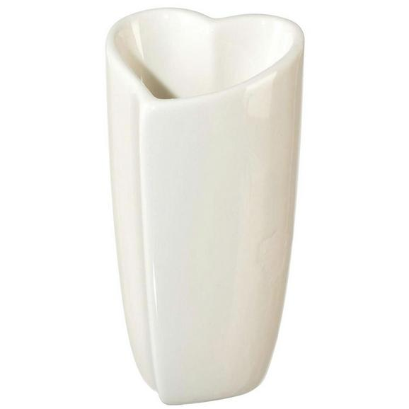 Vaza Vera - bela, Romantika, keramika (10,5/10/20cm)