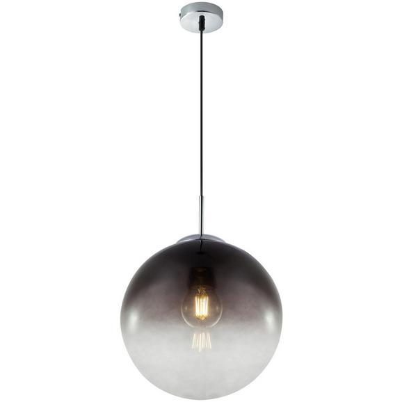 Hängeleuchte Lus max. 40 Watt - Chromfarben/Schwarz, LIFESTYLE, Glas/Kunststoff (30/120cm) - Modern Living