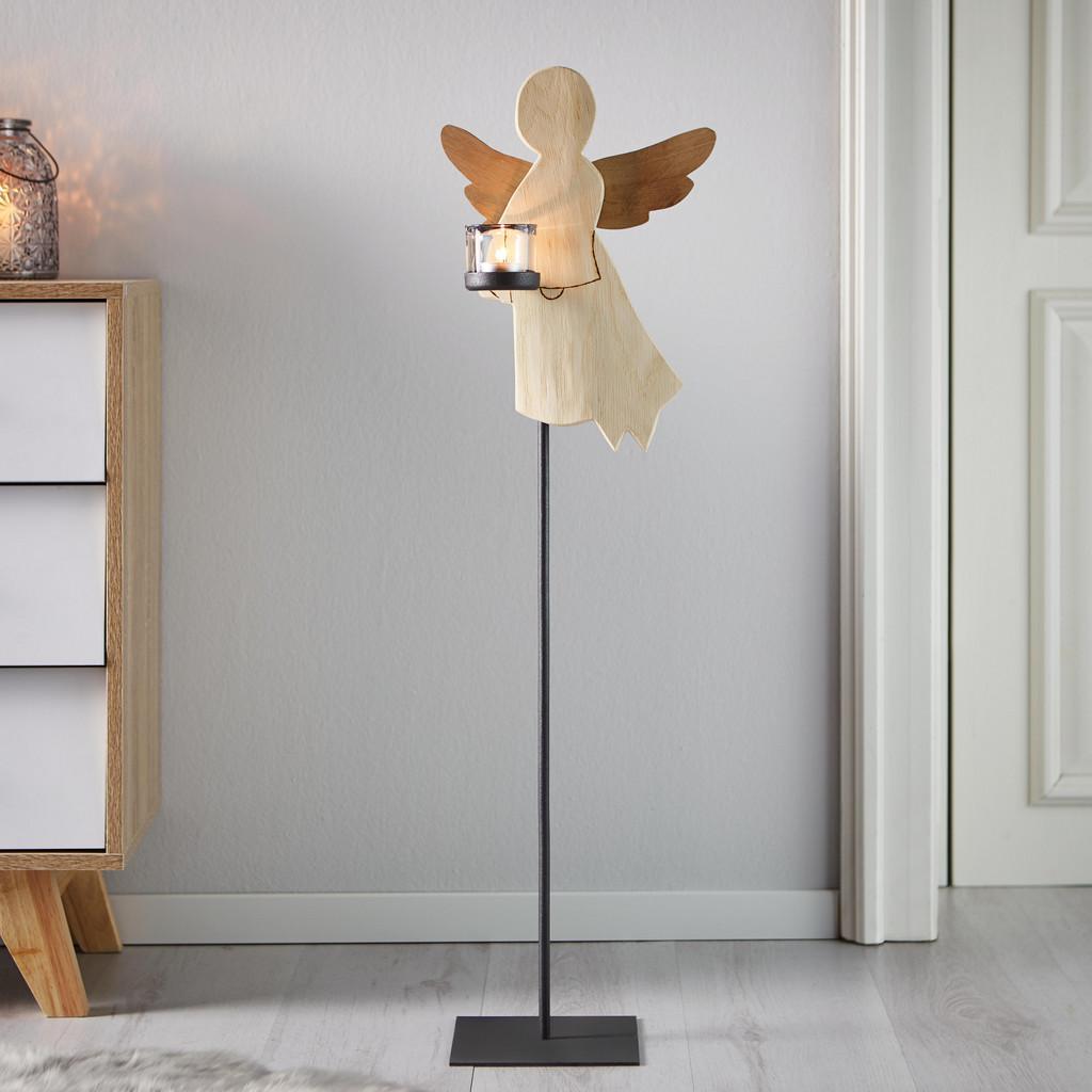 Dekoengel aus Eiche H ca. 88 cm 'Lilli' | Dekoration > Figuren und Skulpturen > Engel | Bessagi Home