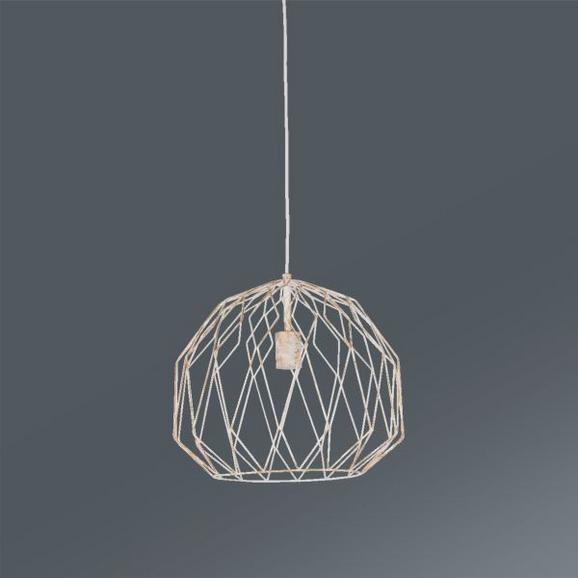 Viseča Svetilka Luc - zlata/bela, Trendi, kovina (40/137cm) - Mömax modern living