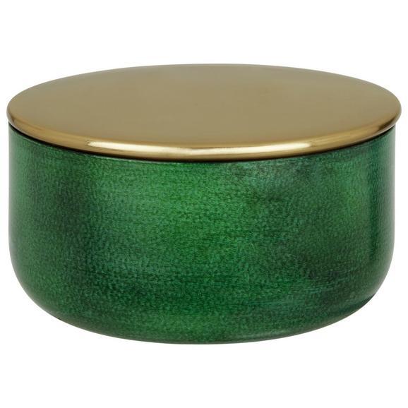 Posoda Za Shranjevanje Medina - zlata/temno zelena, Design, kovina (11cm)