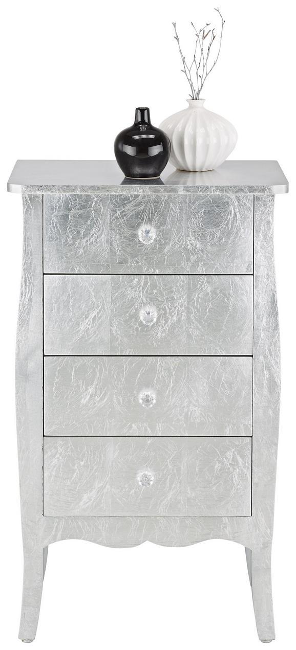 Kommode Silber - Transparent/Silberfarben, LIFESTYLE, Holzwerkstoff/Kunststoff (48/81/31,5cm) - MÖMAX modern living