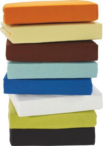 Spannbetttuch Jersey, ca. 100x200cm - Anthrazit/Gelb, Textil (100/200cm) - Based