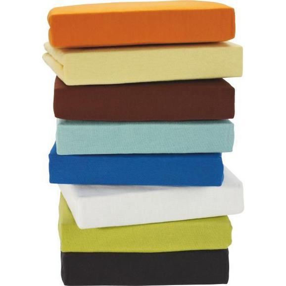 Spannbetttuch Jersey, ca. 150x200cm - Blau/Anthrazit, Textil (150/200cm) - Based