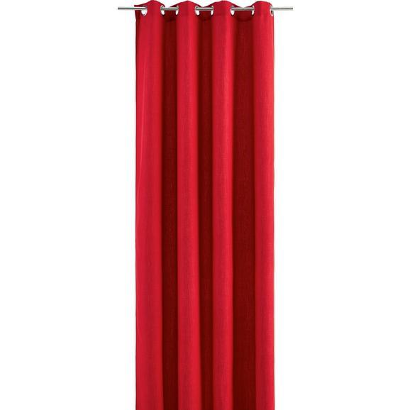 Zavesa Z Obročki Ulli - rdeča, tekstil (140/245cm) - Mömax modern living