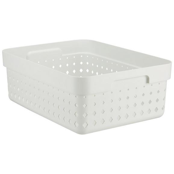 Korb Seoul aus Kunststoff in Weiß - Weiß, KONVENTIONELL, Kunststoff (35,7/26,8/13,1cm)