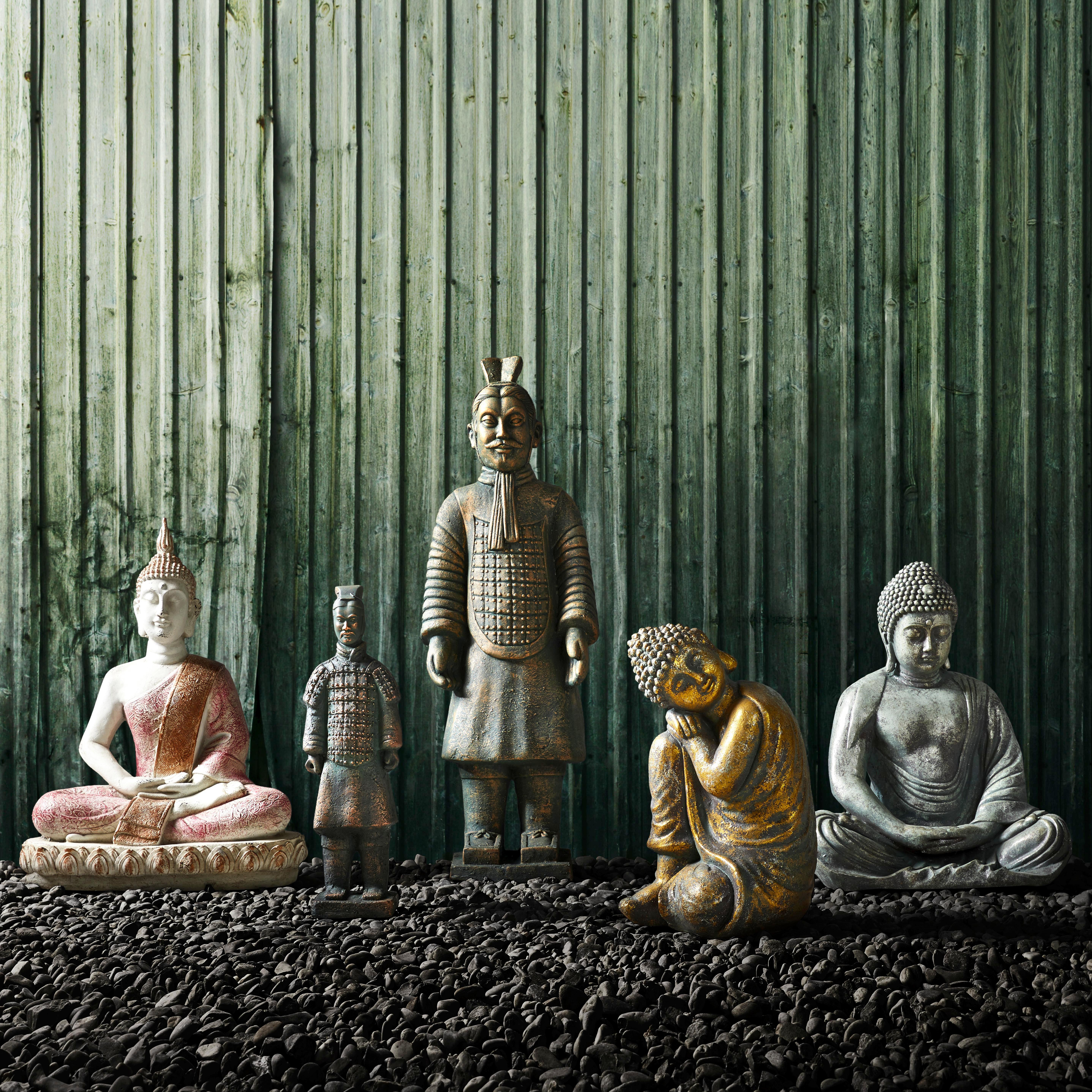 Krieger Shun - Grau, MODERN, Kunststoff/Stein (19/15/57,5cm) - MÖMAX modern living