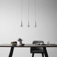 Pendelleuchte Lou mit LED 6-flammig - Silberfarben, MODERN, Glas/Metall (48/23/120cm) - Bessagi Home