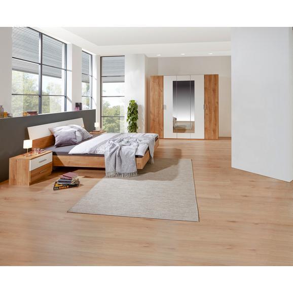 Dormitor Katrin - alb/culoare lemn stejar, Konventionell, compozit lemnos (180/200cm)