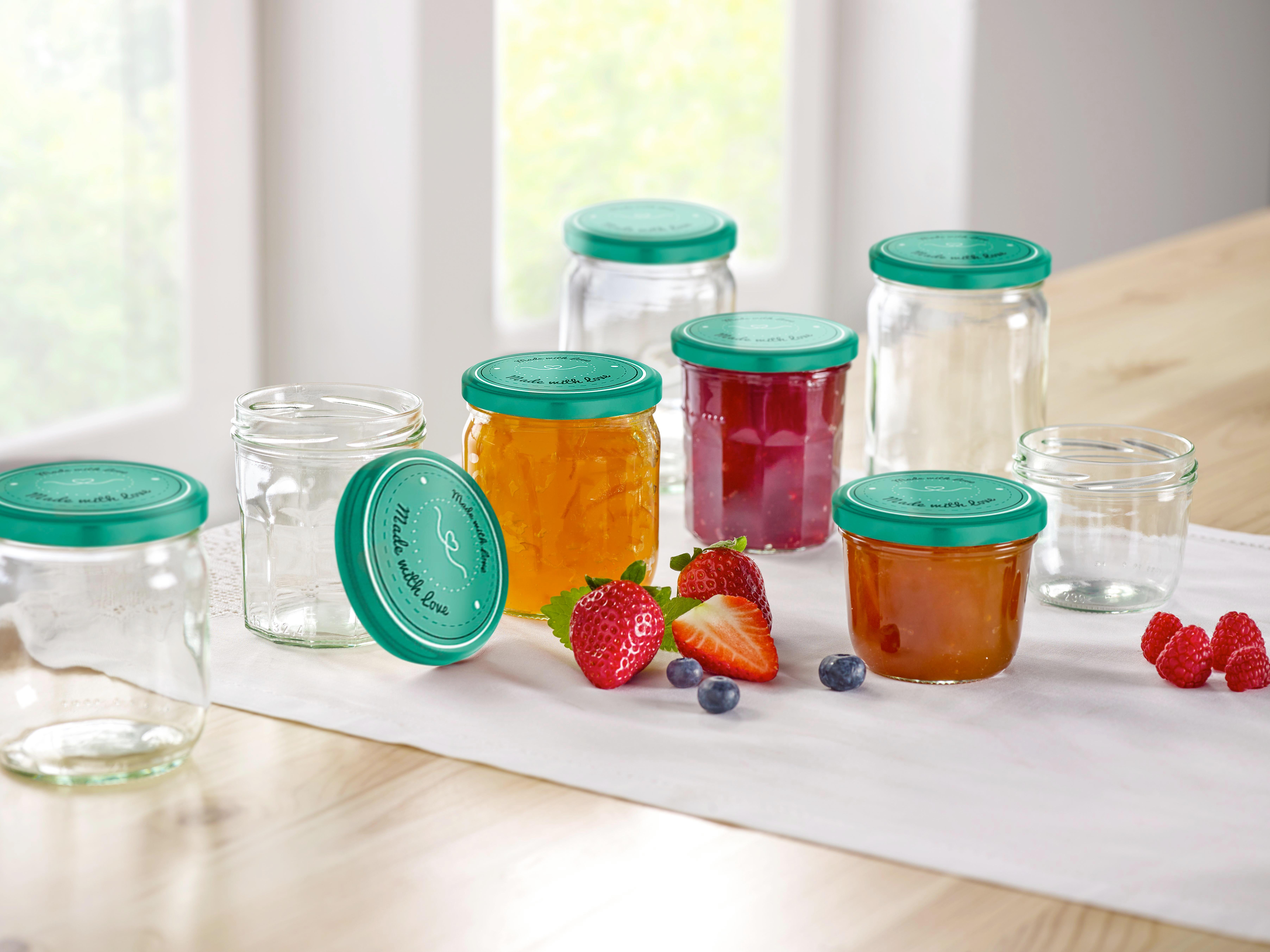 Einmachglas Rosie in verschiedenen Farben - Klar/Rosa, Glas (86/99cm)