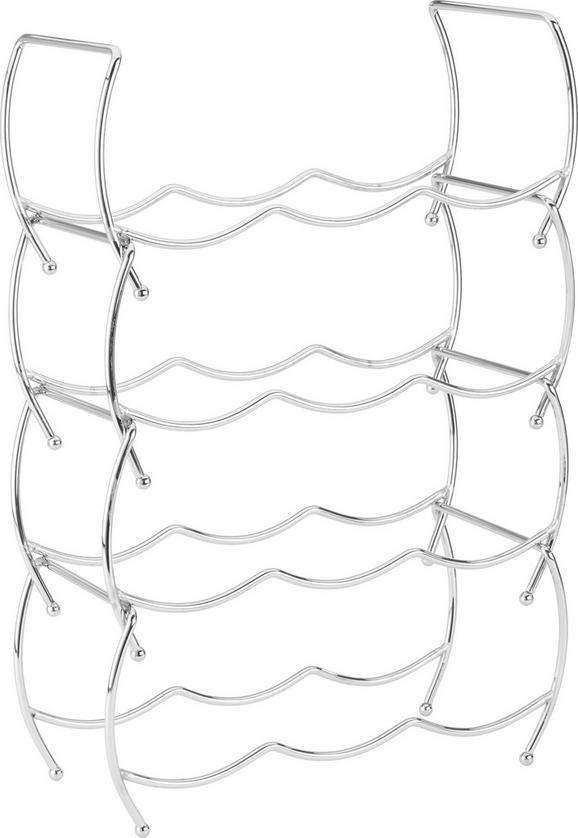 Weinregal Chromfarben - Chromfarben, Metall (36,5/47,5/14,5cm) - Mömax modern living