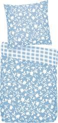 Bettwäsche Sarah ca. 135x200cm - Grau/Hellblau, Textil (135/200cm) - BASED