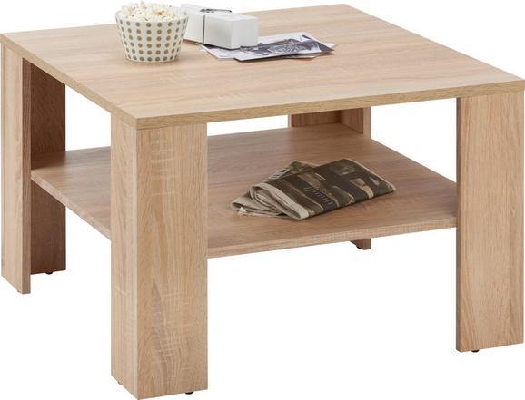Couchtisch Eichefarben - Eichefarben, MODERN, Holzwerkstoff (70/44/70cm) - BASED
