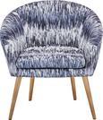 Fotel Tip Toe - fekete/szürke, modern, textil (73/73/66cm)