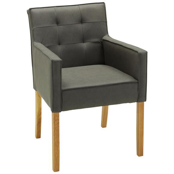 Stuhl in Grau - Grau, MODERN, Holz (58/88/53cm) - Zandiara