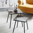 Beistelltisch in Schwarz/Goldfarben - Goldfarben/Schwarz, LIFESTYLE, Glas/Holzwerkstoff (36/41,5/36cm) - Modern Living