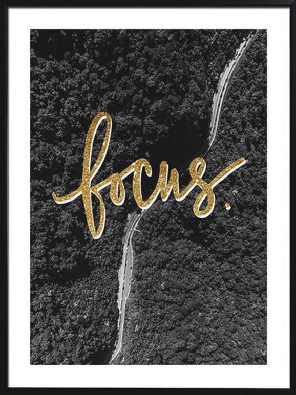 Slika Na Platnu Chloe - črna/večbarvno, umetna masa/tekstil (45/60/2,2cm) - Mömax modern living