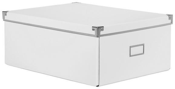 Aufbewahrungsbox Lorenz Weiß, Faltbar - Weiß, Karton/Metall (43,8/32,4/17,5cm) - Mömax modern living
