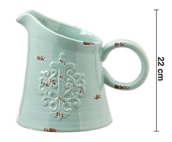 Dekokrug Ariadne - Grün, ROMANTIK / LANDHAUS, Keramik (26/19/22cm) - MÖMAX modern living