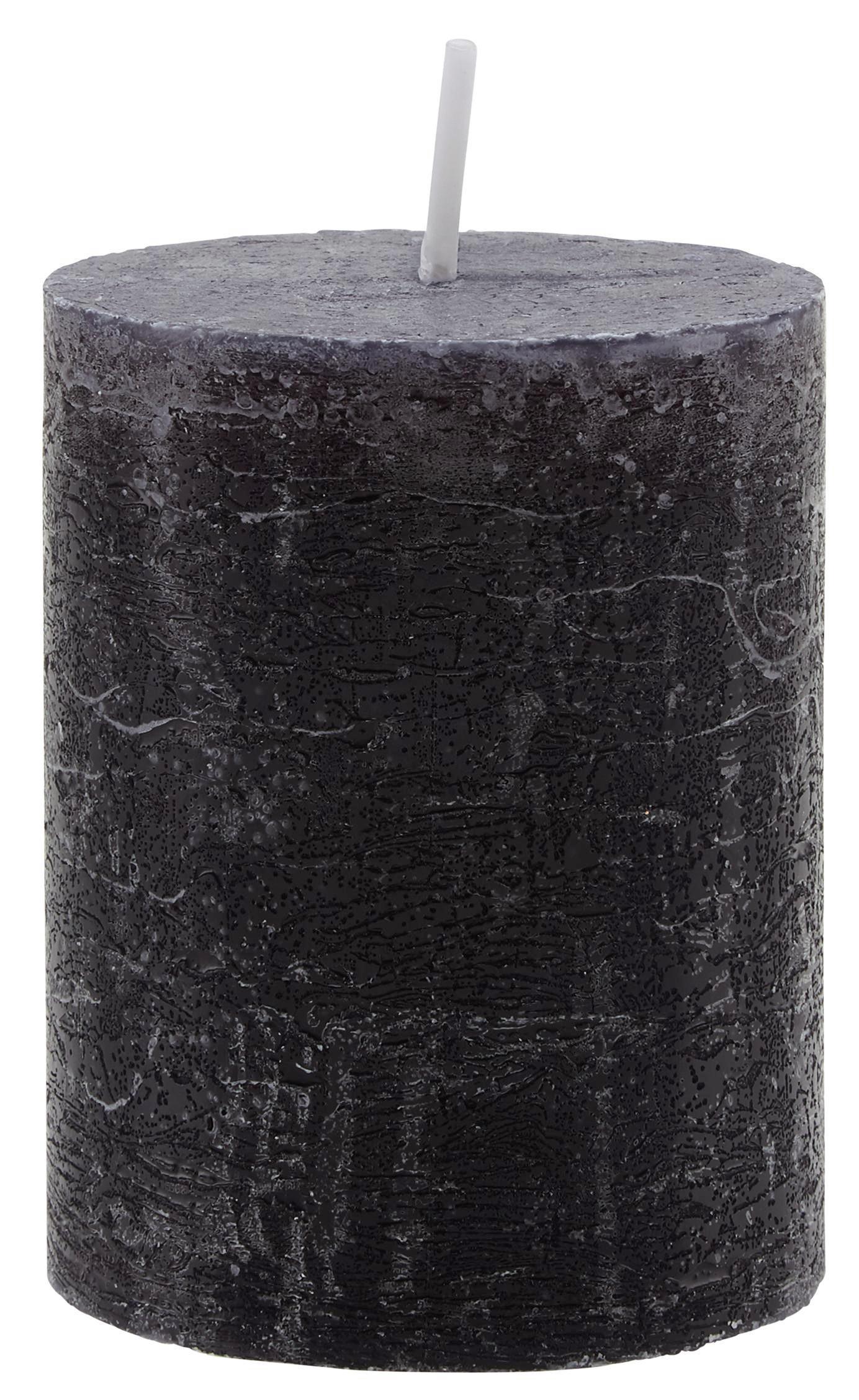 Tömbgyertya Lia - fekete, modern (7/9cm) - MÖMAX modern living