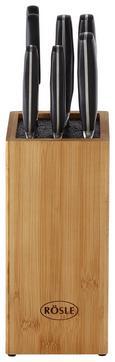 Messerblock Rösle Cuisine 7-tlg. - Schwarz/Braun, KONVENTIONELL, Holz (39/20/14cm) - Rösle
