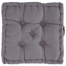 Boxkissen Ninix, ca. 40x40x10cm - Grau, Textil (40/40/10cm) - Mömax modern living