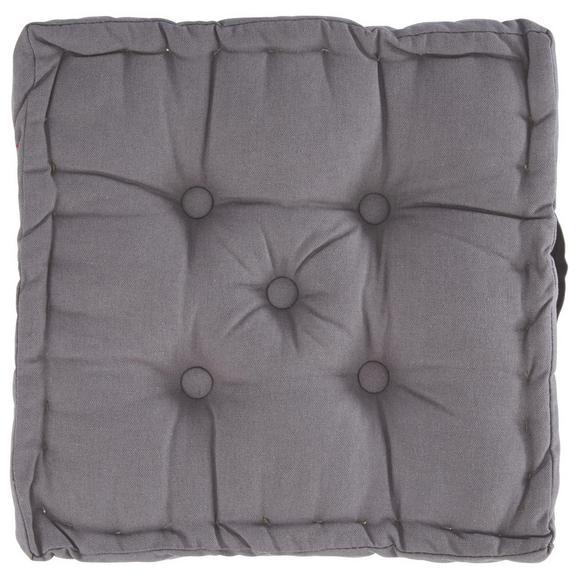 Boxkissen Ninix in Grau ca. 40x40x10cm - Grau, Textil (40/40/10cm) - Mömax modern living