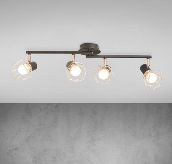 Deckenleuchte Jessy 4-flammig - Schwarz/Kupferfarben, MODERN, Metall (75/9/15cm) - Modern Living