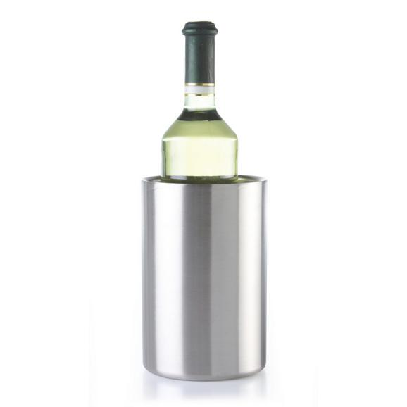 Flaschenkühler Timo aus Edelstahl - Edelstahlfarben, MODERN, Metall (11,5/20cm) - Mömax modern living