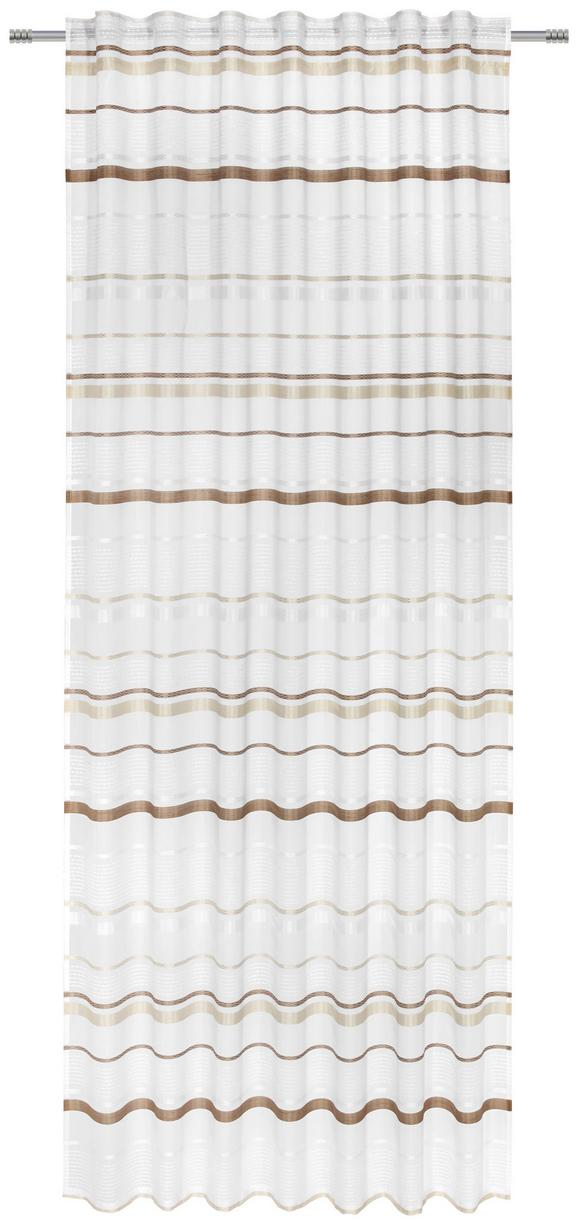 Končana Zavesa Adele -top- - rjava, Konvencionalno, tekstil (140/245cm) - MÖMAX modern living