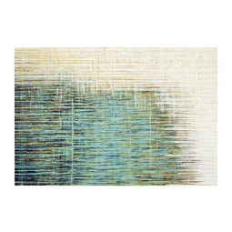 Bild Acryl ca. 80x120cm - Blau/Gelb, Holz/Textil (80/120cm) - Premium Living