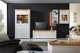Tv-element Leonardo - bela/hrast, Moderno, kovina/umetna masa (160/56/45cm) - Modern Living
