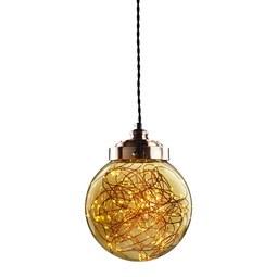 Pendelleuchte Constance mit LED - Champagner, MODERN, Glas/Metall (20/100cm) - Bessagi Home