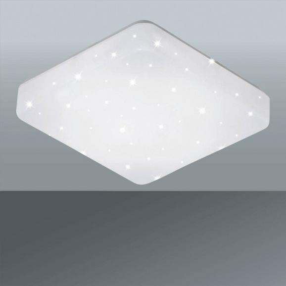 Stropna Led-svetilka Rick - bela, Romantika, kovina/umetna masa (54/6cm) - Premium Living