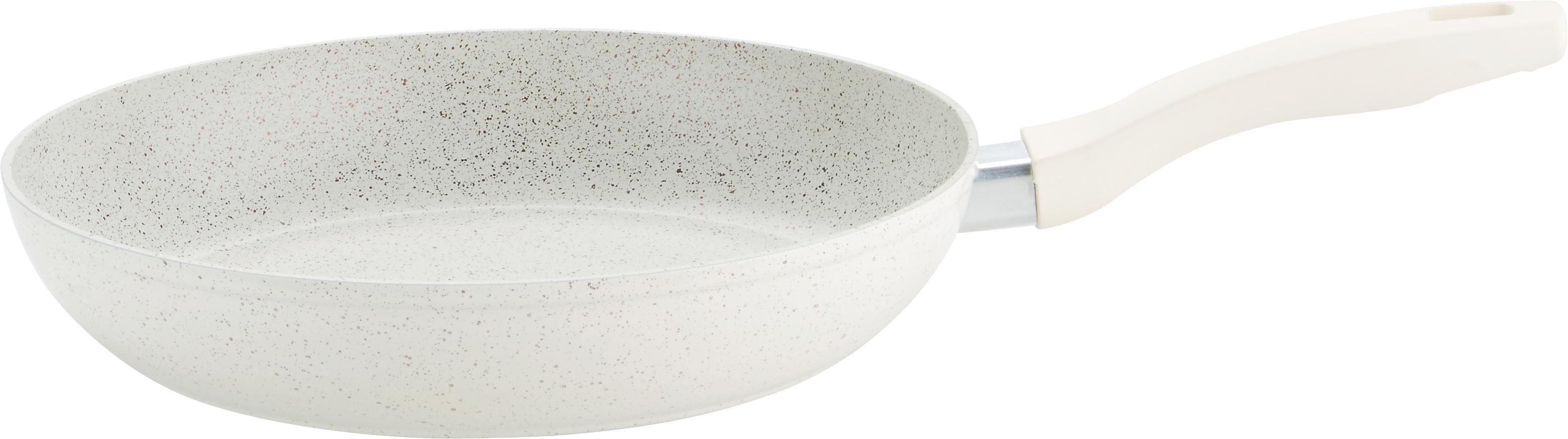 Bratpfanne Marmor in Creme - Creme, ROMANTIK / LANDHAUS, Metall (28/5,5cm) - PREMIUM LIVING