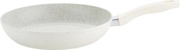 Bratpfanne Marmor Ø ca. 28cm - Creme, ROMANTIK / LANDHAUS, Metall (28/5,5cm) - Premium Living