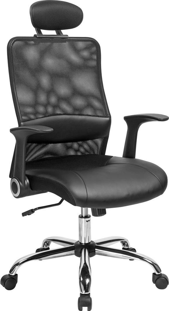 Főnöki Szék Geno - fekete, modern, műanyag/textil (63,5/112-120/63,5cm) - MÖMAX modern living