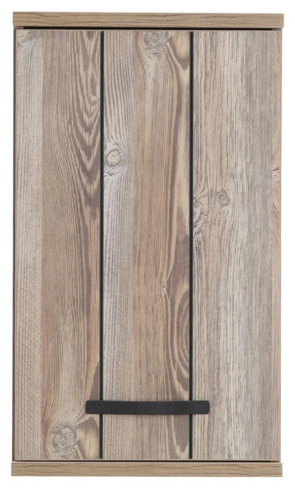 Oberschrank in Kieferfarben - Dunkelgrau/Schwarz, MODERN, Holzwerkstoff/Kunststoff (40/69/29cm) - MÖMAX modern living
