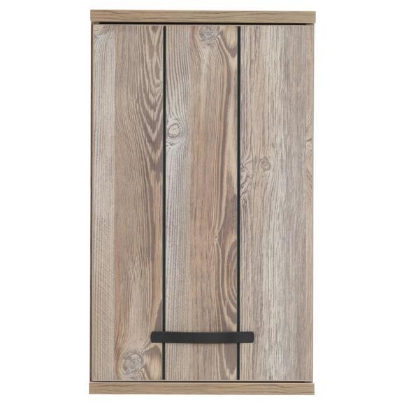 Oberschrank Kieferfarben/Dunkelgrau - Dunkelgrau/Schwarz, MODERN, Holzwerkstoff/Kunststoff (41/69/29cm) - Mömax modern living