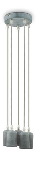 Hängeleuchte Adua, max. 5x60 Watt - Grau, LIFESTYLE, Kunststoff/Textil (15/80cm) - Mömax modern living