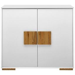 Kommode in Weiß/Eichefarben - Eichefarben/Weiß, MODERN, Holz/Holzwerkstoff (108/95/40cm) - Modern Living