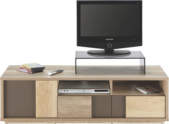 Médiaállvány Typ - barna/tölgy színű, modern, faanyagok (140/40/45cm)